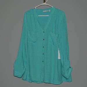 NWT 3X Notations Womens Blouse
